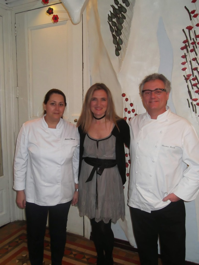 Con Christian Escribà y su esposa Patricia Schmidt